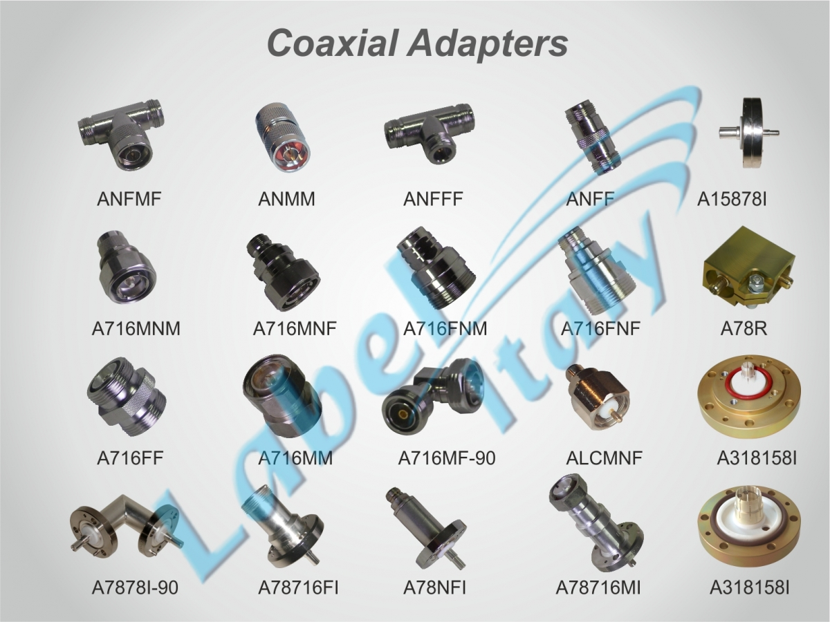 Label Italy (en) List Coaxial Adapters